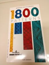 Rare! 1800 Patterns Knitting Encyclopedia Pingouin Mon Tricot New Edition * 1989