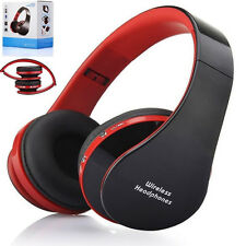 Foldable Wireless Bluetooth Stereo Headset Headphone Handsfree Mic For iPhone PC