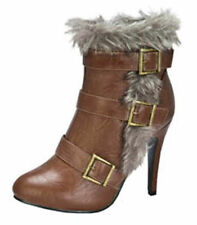 COGNAC JESSICA-9 Women Round Toe Faux Fur Snow Cuff Tops Ankle Boot Size 7