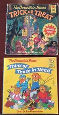 The Berenstain Bears VTG Book Lot-Think of Those in Need and Trick or Treat!