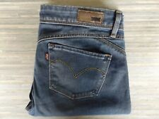 Ladies Levi Strauss & Co. Demi Curve Revel Skinny Fitting Blue Jeans W29 L32