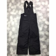 Columbia Snow Bibs Boys Size 4/5 Black Insulated Ski Winter Overalls Pants