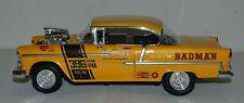 1955 Yellow Chevy Bel Air 396 Badman Drag Car 1/18 Scale Motormax