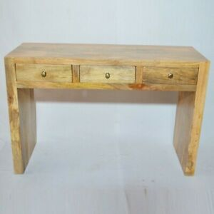 Contemporary Boston Console Hall Table Natural (MADE TO ORDER)
