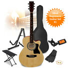 Classic Acoustic Guitar Full Size Set with Stand, Tuner, Gig Bag and Strap Kit for sale