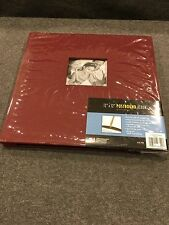 "Photo Album Scrapbook 12"" X 12"" Burgandy with photo window on front cover"