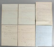 6 Antique Authentic Civil War Documents, General & Special Orders + Circulars