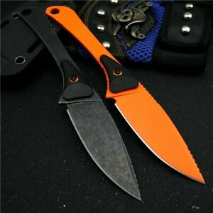 Drop Point Knife Hunting Survival Tactical Combat High Carbon Steel G10 Handle S