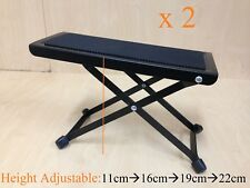 Haze GS017 Height Adjustable Metal Structure Guitar Footrest/footstool Black