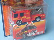 Matchbox Dennis Sabre Fire Engine Ladder Rescue Red BOB Toy Model 70mm in BP