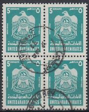 Uae 1976 fine used mi.69 bl/4 Free Brand Definitive Armorial Crest [g2038]