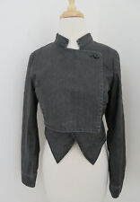 FIFTH AVE SHOE REPAIR waxed cotton Cropped Jacket S military gray