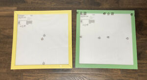 Set Of 2 IKEA Picture Frames Green & Yellow FISKBO Wall Hanging 12 3/4 X 12 3/4