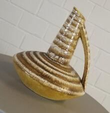 edle Keramik Design Vase Tischvase Henkel Kanne Fischmaul Vintage 50er Jahre RAR