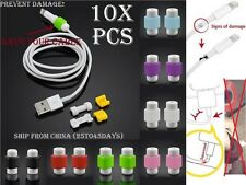 10x Protector Lightning Cable Cord Saver iPhone ipod Protection protecteur 10 .