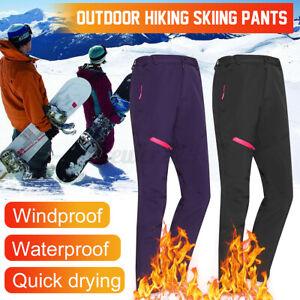 Outdoor Women Winter Warm Pants Hiking Sport Skiing Climbing Lady Trousers Pants