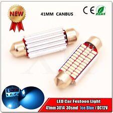 1X Ice Blue 41MM 33 3014 Canbus Error Free Festoon Dome LED Light Roof Bulb I324