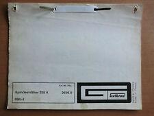 ORIG. Ersatzteilliste GUTBROD Spindel-Mäher 225 A Motor Aspera HC 22 1968/69