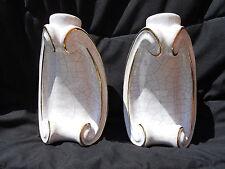 Ancienne paire d'appliques lampes 1940 / No Jouve, Ruelland, Capron, Ceramique