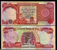 4 x 25000 IRAQI DINAR UNCIRCULATED BANKNOTES = 100,000 IQD - VERIFIED!