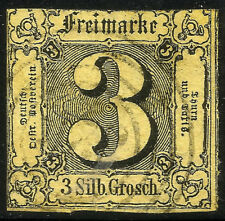THURN UND TAXIS, 3 SILBERGROSCHEN, 1852, MICHEL # 6a, RING CANCELLATION