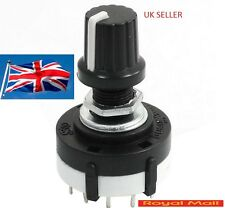 3 Pole 4 Position Single Wafer Band Selector Rotary Switch 3P4T UK SELLER #S11