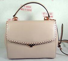 Michael Kors Ava Medium Scalloped Soft Pink Leather Top Handle Satchel Bag