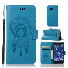 Luxury Slim Flip Leather Case Card Stand Magnetic Wallet Cover For HTC U11