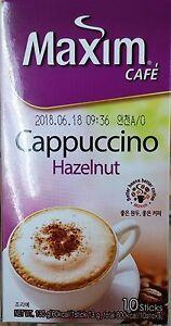 Korea Maxim Cafe Cappuccino Hazelnut Instant Coffee 13g X 10Sticks