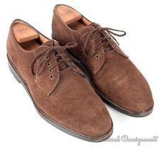 SALVATORE FERRAGAMO Brown Suede PTB Oxford Rubber Sole Mens Dress Shoes - 10 D