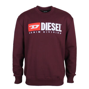 Diesel S-Crew-Division Sweatshirt in Plum LARGE *NEW WITH TAGS* RRP £110