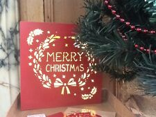 Merry Christmas Wooden Light Box Sign Vintage Design Hanging & Table Decoration