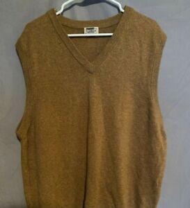 LL BEAN Mens Sweater Vest 100% Lambs Wool Sz XXL