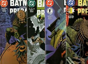 Batman Versus Predator 3 #1, 2, 3 & 4 SERIES RUN III HARD TO FIND 1997 NM- 9.2