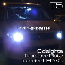 VW Transporter 12pc T5 Kit de Luz LED Interior puro Xenon Blanco 6000K SIDELIGHTS