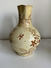 ANTIQUE  STUDIO POTTERY PITCHER -  SIGNED  WROT..... MAYBE  WROTHAM