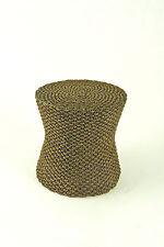 Dollhouse Miniature Modern Resin Wicker Look Round Table, HW4019