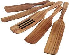 Wooden Spurtle Set Wood Spurtles Kitchen Tools Cooking Utensils Nonstick 5Pcs