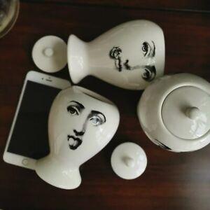 Jar With Lids Candle Holder Fornasetti Big Eyes Ceramic Decorative Storage Box