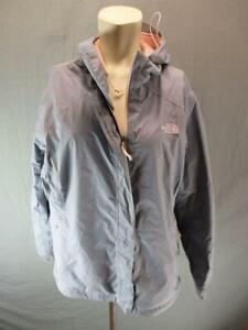 The North Face Size XL Women Gray FullZip DryVent Hooded Windbreaker Jacket T125