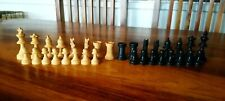 Vintage Cavaliers Visses Screwed Knights Chess Pieces In Box