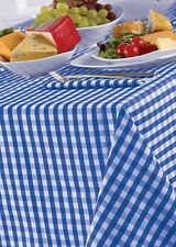 """Controllo Gingham BLUEBELL Bianco 69 """"ROUND TABLE CLOTH paese LOOK Poliestere Blu"""