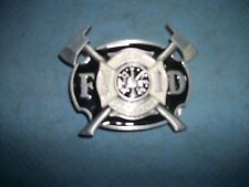 F D Fire Department belt buckle