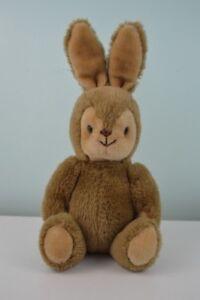 Princess Soft Toys Jointed Bunny Rabbit Plush Stuffed Animal Vintage Tan Brown