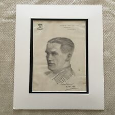 Original Drawing Sketch Portrait of a Gentleman Signed Chelsea London Kings Road