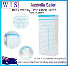 100 sheets Weekly Payroll Cards Employee Time Attendance Clock Recorder-98609