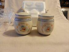 Pair of Disney Winnie The Pooh Spice Jars Lenox 2000 Garlic & Ginger