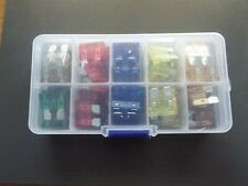 60pcs Med STD Blade Fuses in Handy Travel Box (6 sizes) Caravan & Tow car