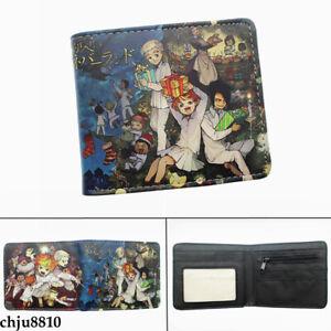 The Promised Neverland Unisex PU Wallet Bifold Short Purse Card Holder Coinbag