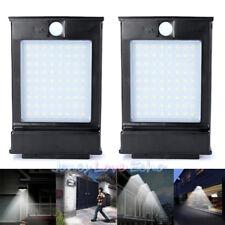 2x 72LED Solar Power Gutter Security Wall Light Motion Sensor Lamp Outdoor BLACK